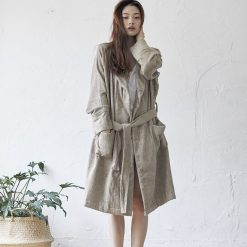 100% Bamboo Yarn Bathrobe | Sand